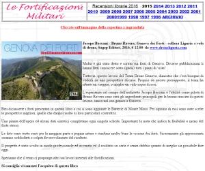 Recensione Genova dei forti su Fortificazioni Militari