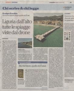 Articolo de La Repubblica su Spiagge di Liguria
