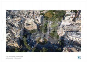 Poster Piazza Corvetto 1, Genova, 30x40 cm