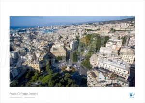 Poster Piazza Corvetto 2, Genova, 30x40 cm