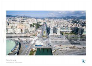 Poster Foce 2, Genova, 30x40 cm - Fotografia aerea di Drone Genova