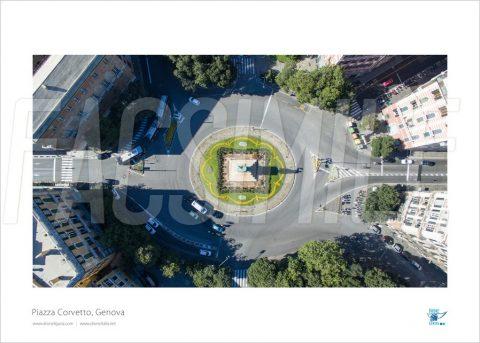 Poster Piazza Corvetto 5, Genova, 30x40 cm