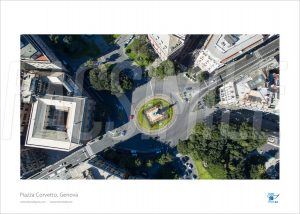 Poster Piazza Corvetto 6, Genova, 30x40 cm