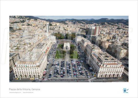Poster Piazza della Vittoria 1, Genova, 40x30 cm