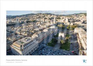 Poster Piazza della Vittoria 2, Genova, 40x30 cm