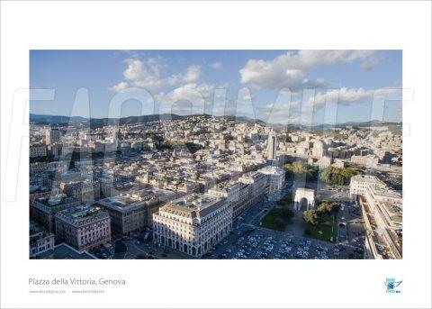 Poster Piazza della Vittoria 3, Genova, 40x30 cm