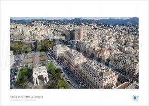 Poster Piazza della Vittoria 5, Genova, 40x30 cm