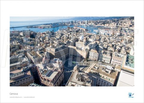 Poster Piazza De Ferrari, Genova, 40x30 cm